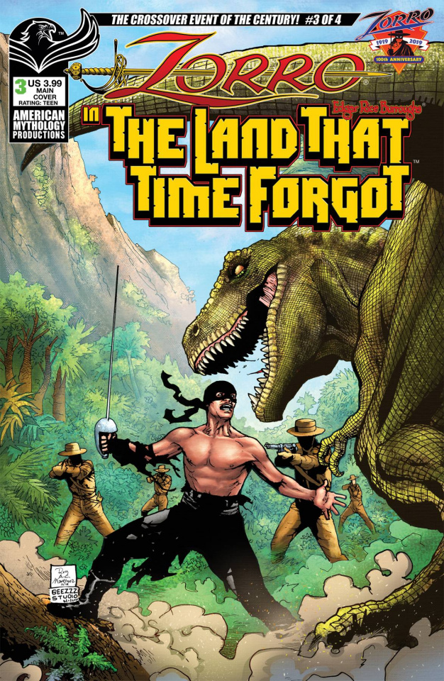 Zorro in The Land That Time Forgot #3 (Martinez Cover)