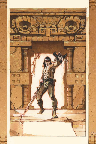The Cimmerian: Red Nails #2 (Vatine Cover)