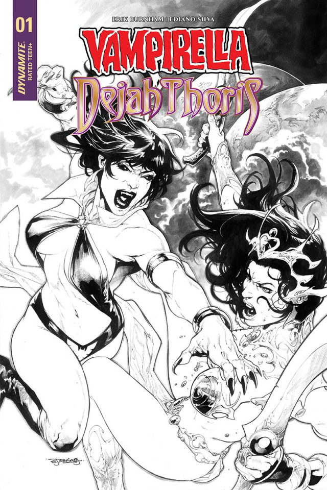 Vampirella / Dejah Thoris #1 (30 Copy Segovia B&W Cover)