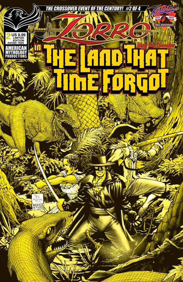 Zorro in The Land That Time Forgot #2 (Ranaldi Cover)