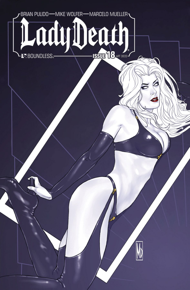 Lady Death #18 (Art Deco Variant Cover)