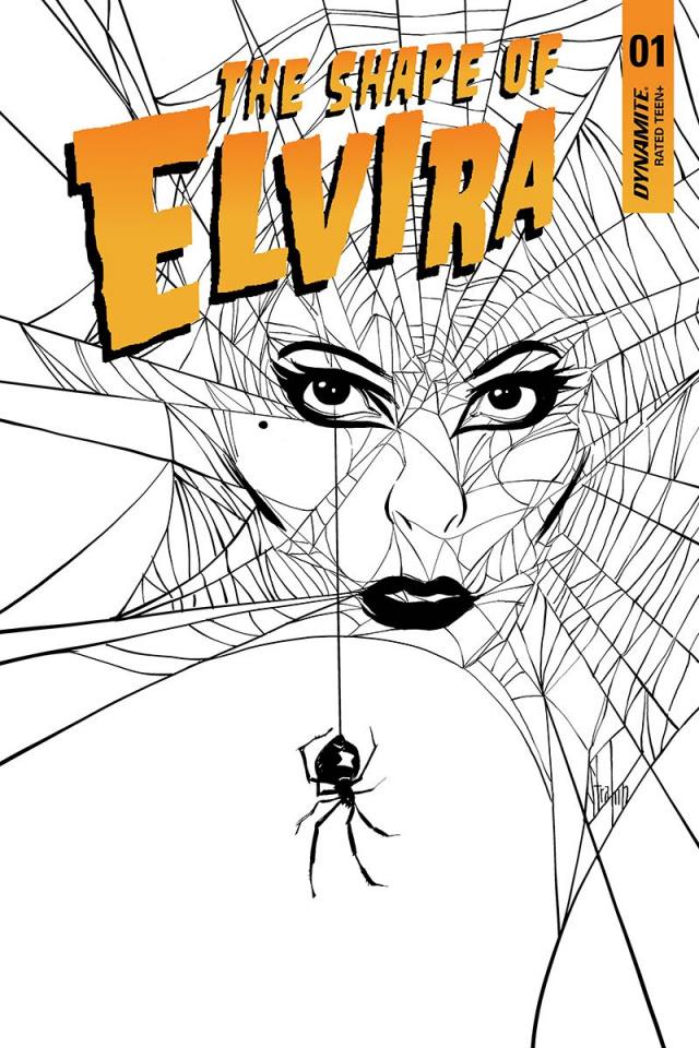 The Shape of Elvira #1 (20 Copy Strahm B&W Cover)