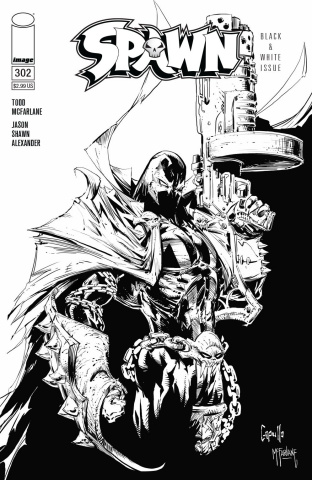Spawn #302 (B&W Capullo & McFarlane Cover)
