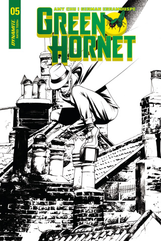 Green Hornet #5 (10 Copy McKone B&W Cover)