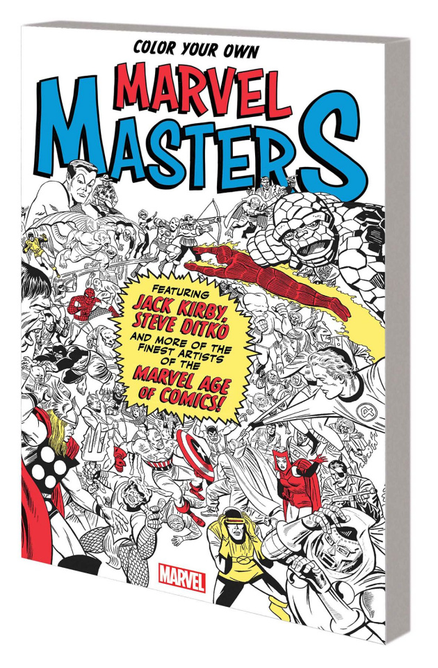 Color Your Own Marvel Masters