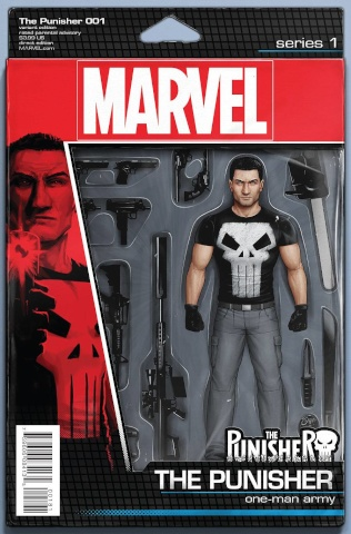 The Punisher #1 (Christopher Action Figure Cover)