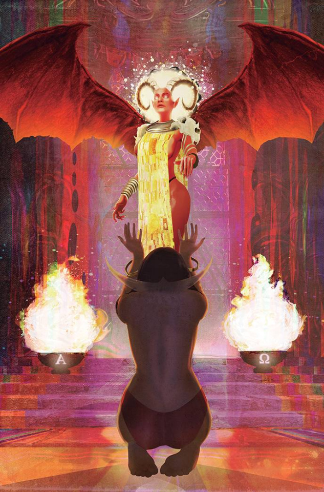 Vampirella vs. Purgatori #5 (Bonus Maine Virgin Cover)