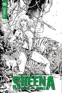 Sheena #5 (10 Copy Thibert B&W Cover)
