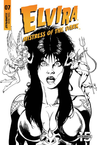 Elvira: Mistress of the Dark #7 (15 Copy Castro B&W Cover)