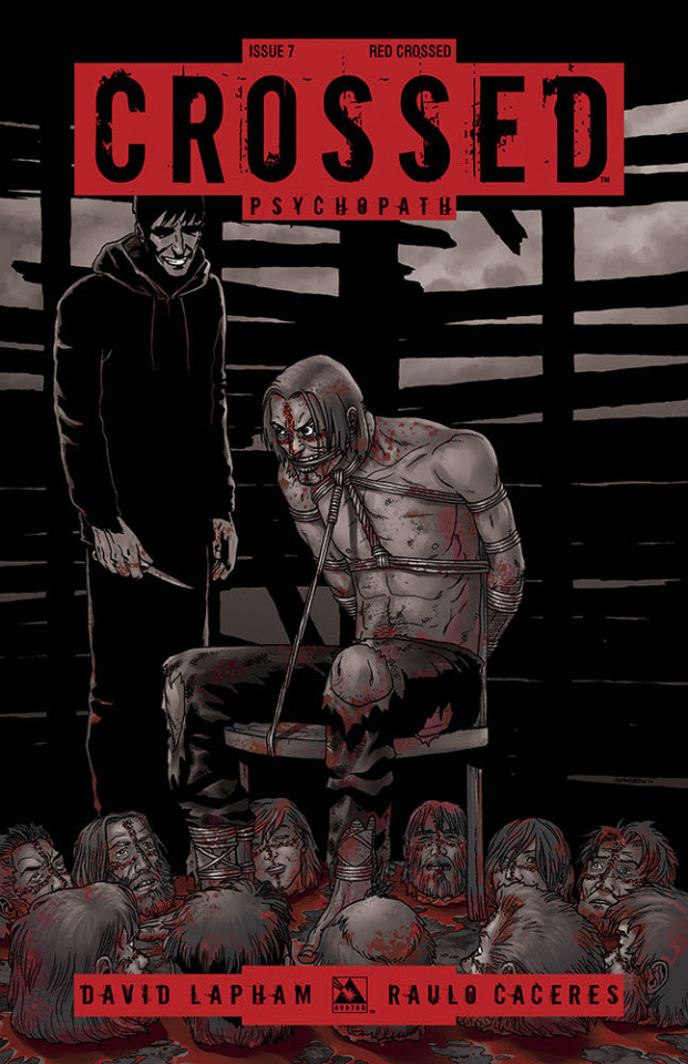 Crossed: Psychopath #7 (Red Crossed Cover)
