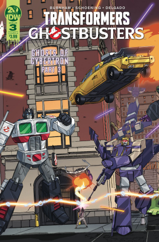 The Transformers / Ghostbusters #3 (Schoening Cover)