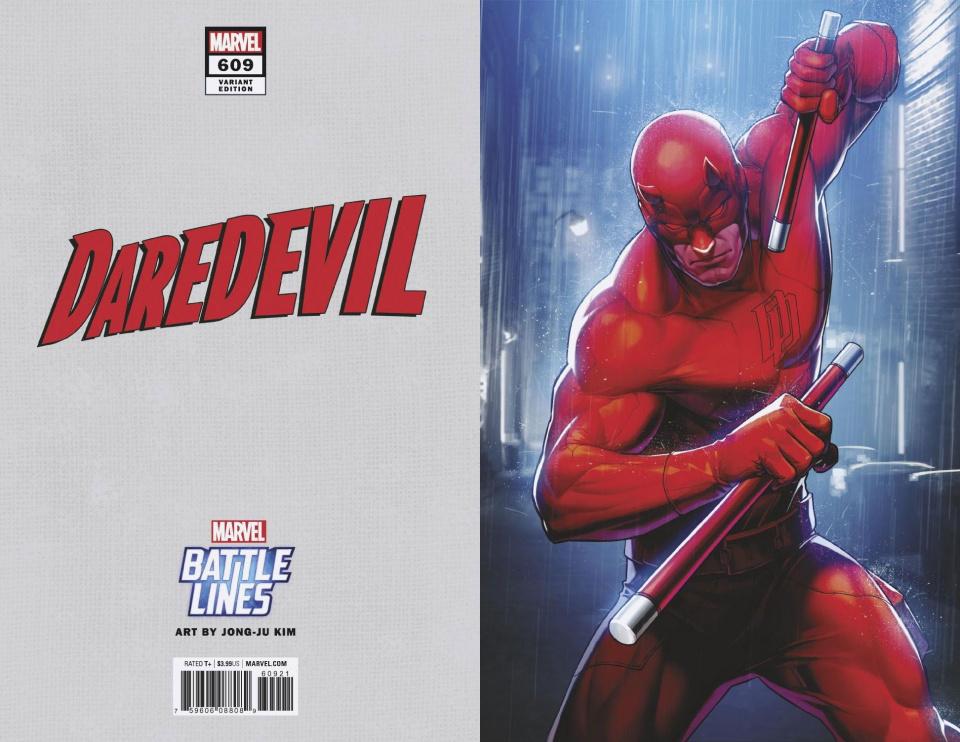 Daredevil #609 (Yoon Lee Marvel Battle Lines Cover)