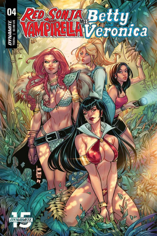 Red Sonja and Vampirella Meet Betty and Veronica #4 (Braga Cover)