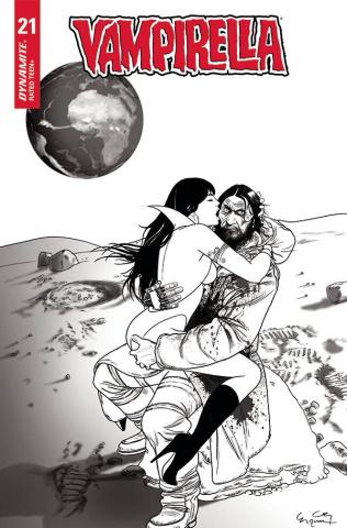 Vampirella #21 (20 Copy Gunduz B&W Cover)