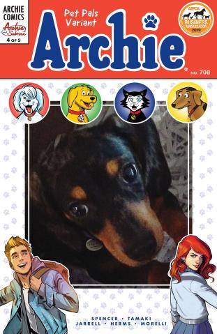 Archie #708: Archie & Sabrina (Pet Pals Cover)