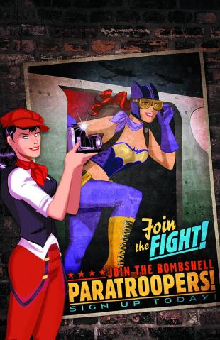 Batman / Superman #23 (Bombshells Cover)