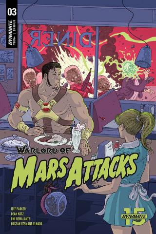 Warlord of Mars Attacks #3 (Villalobos Cover)
