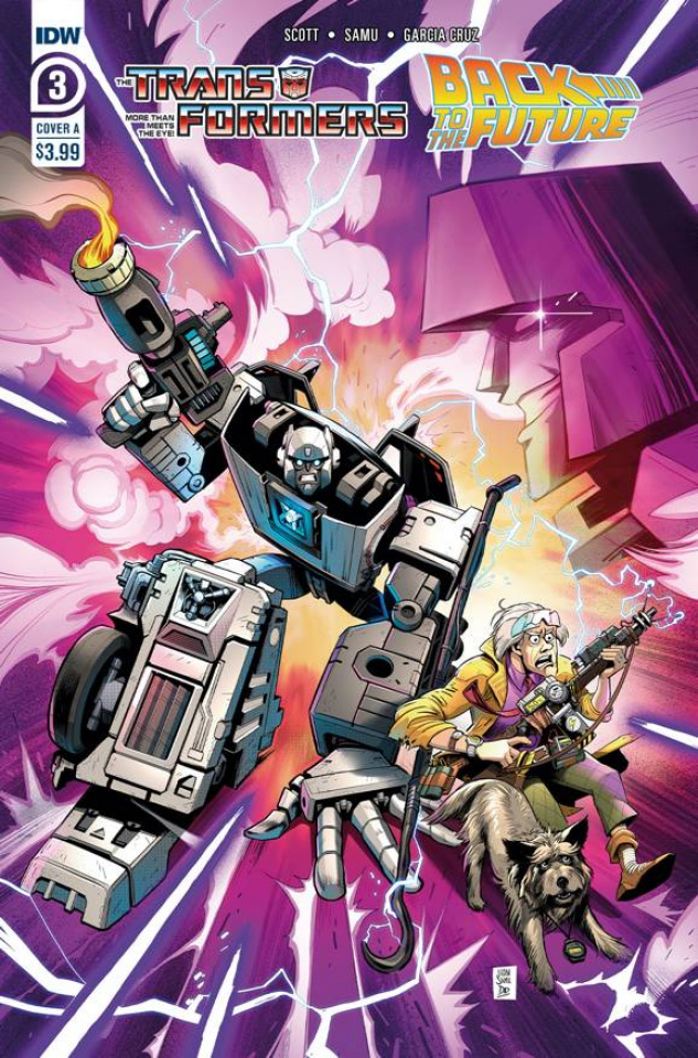 The Transformers / Back to the Future #3 (Juan Samu Cover)