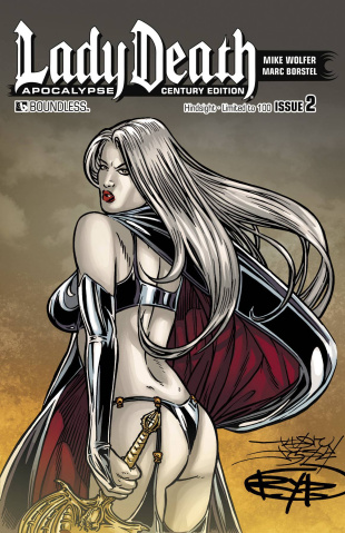 Lady Death: Apocalypse #2 (Century Hindsight Cover)