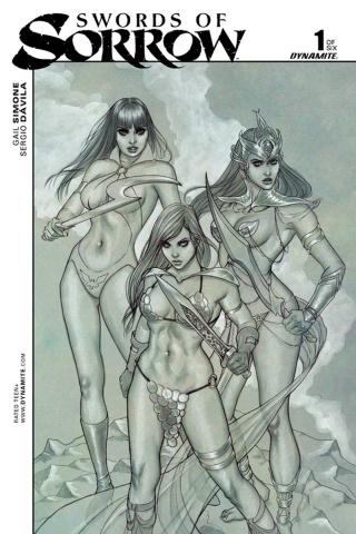 Swords of Sorrow #1 (Rare Frison B&W Cover)