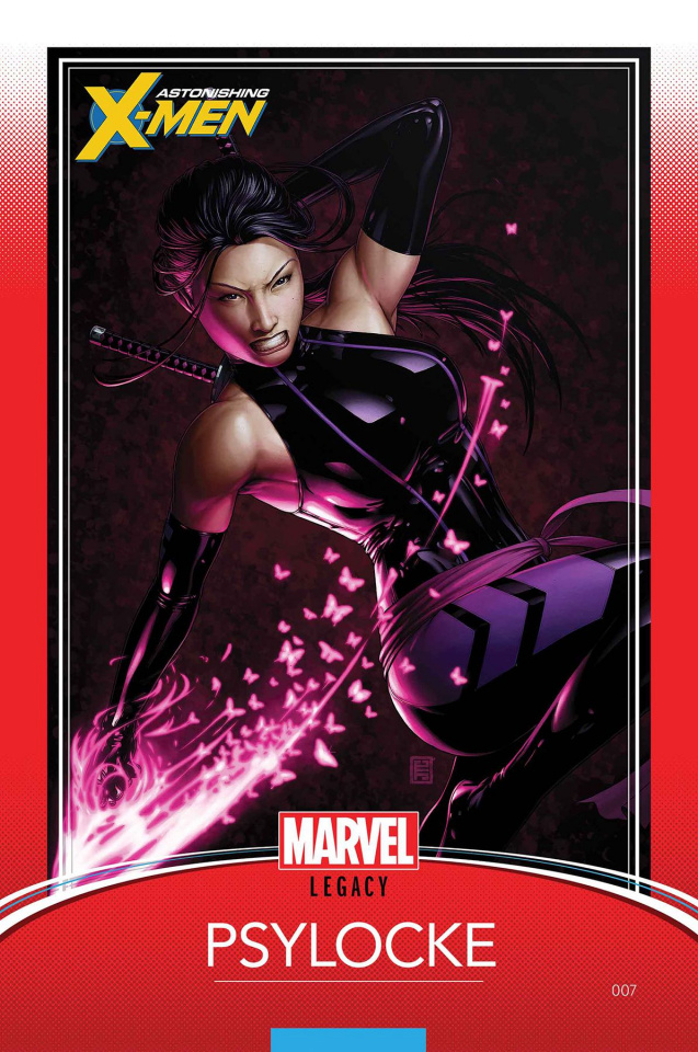 Astonishing X-Men #7 (Christopher Trading Card Cover)