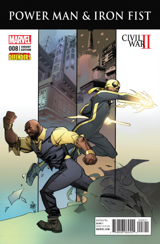 Power Man & Iron Fist #8 (Defenders Cover)