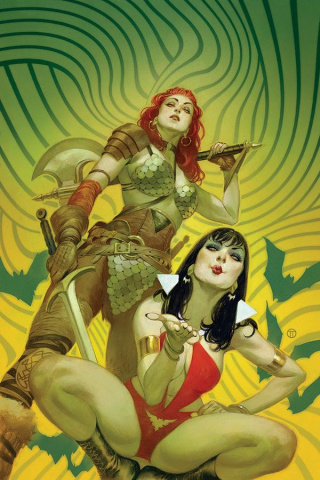 Vampirella / Red Sonja #1 (Tedesco Virgin Cover)