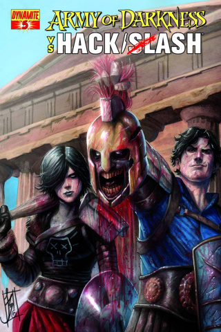 Army of Darkness vs. Hack/Slash #5 (Caselli Cover)