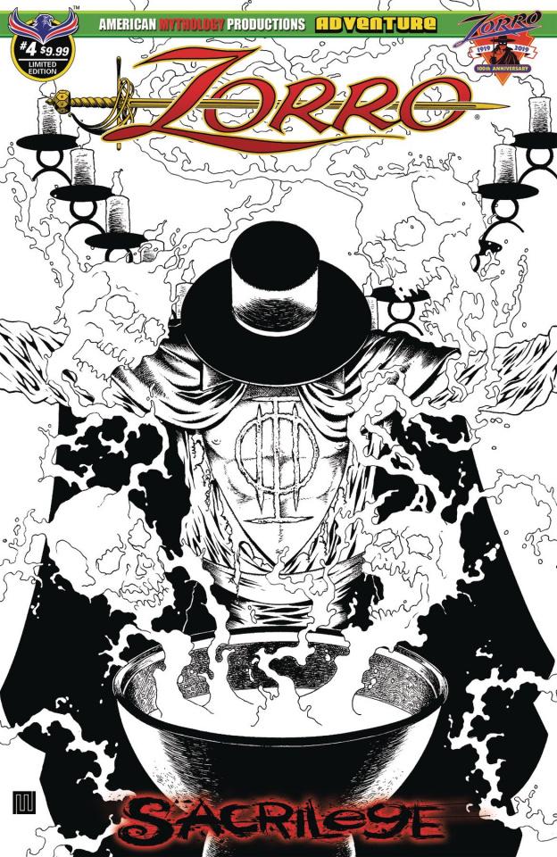 Zorro: Sacrilege #4 (Visions of Zorro B&W Cover)