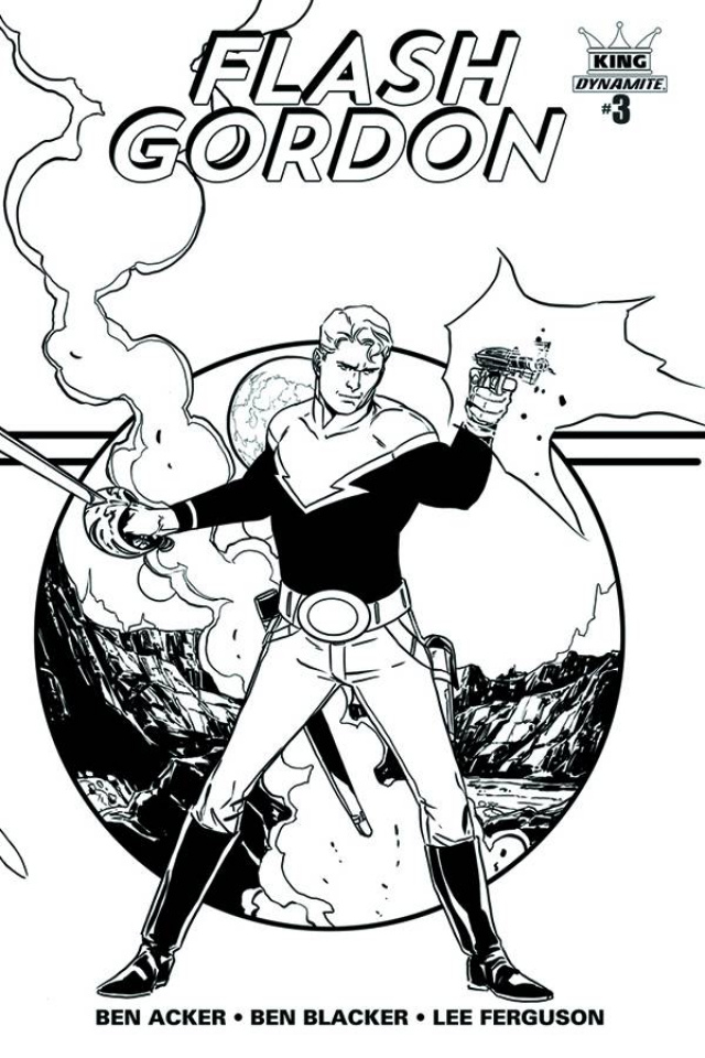 Flash Gordon #3 (25 Copy Laming B&W Cover)