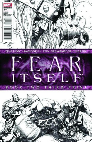 Fear Itself #2 (3rd Printing Sketch Variant)