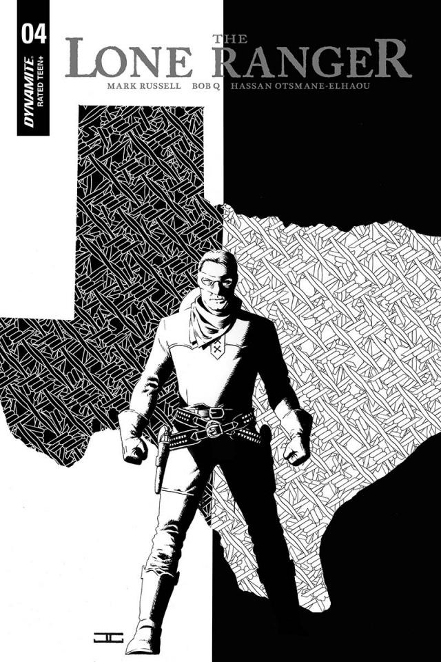 The Lone Ranger #4 (10 Copy Cassaday B&W Cover)