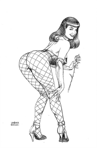 Bettie Page #5 (11 Copy Linsner B&W Virgin Cover)