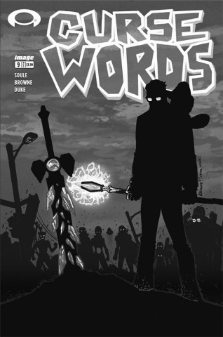 Curse Words #9 (B&W Walking Dead #6 Tribute Cover)