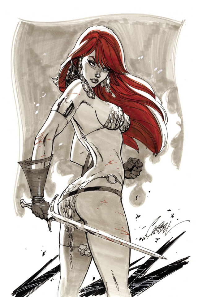 Red Sonja #3 (40 Copy Campbell Virgin Cover)
