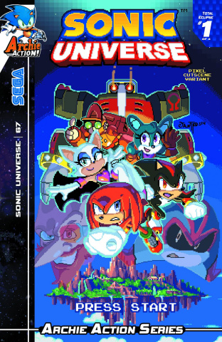 Sonic Universe #67 (Pixel Cut Scene Cover)