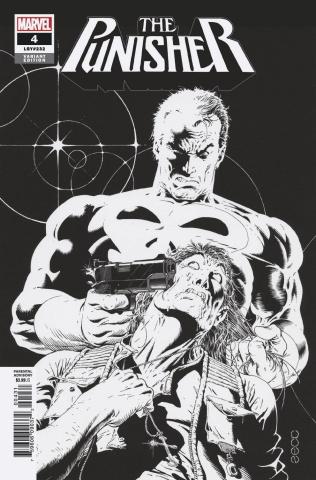 The Punisher #4 (Zeck Hidden Gem B&W Cover)