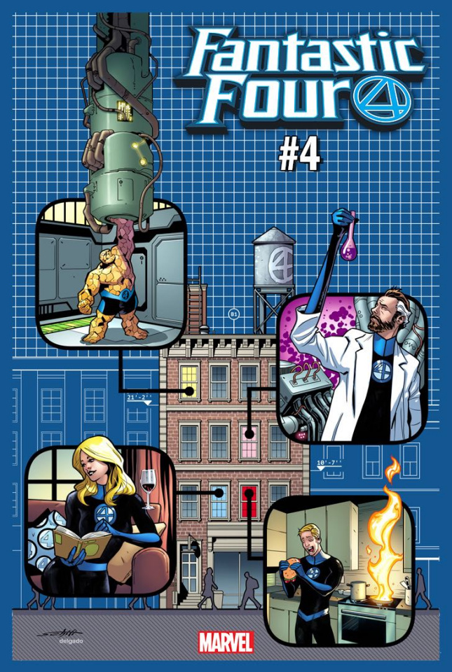 Fantastic Four #4 (Yancy Street Cover)