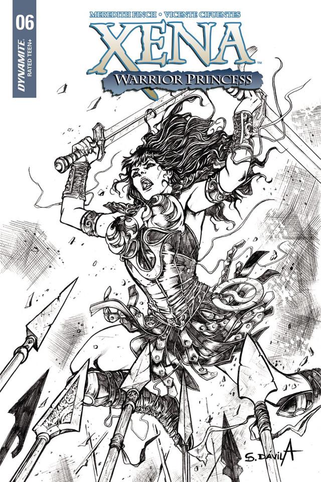 Xena #6 (25 Copy Davila B&W Cover)