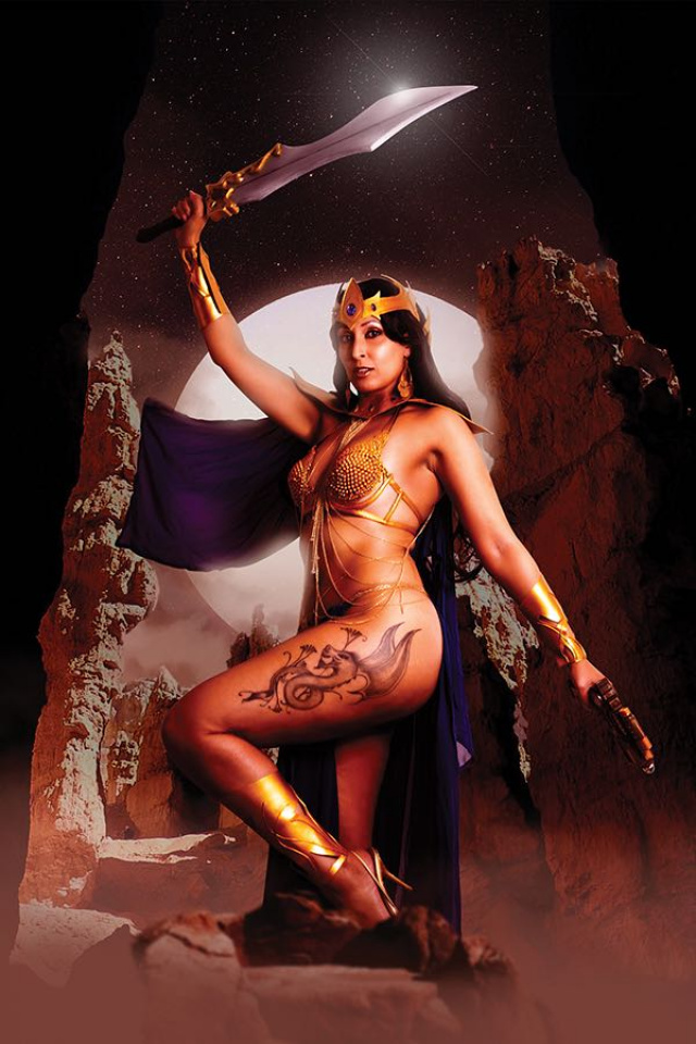 Barbarella / Dejah Thoris #4 (Virgin Cosplay Cover)