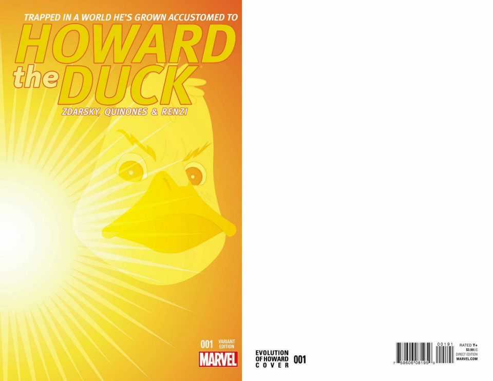 Howard the Duck #1 (Evolution of Howard Cover)