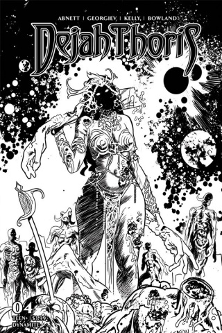 Dejah Thoris #4 (50 Copy Gedeon Zombie B&W Cover)