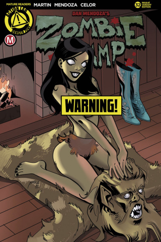 Zombie Tramp #32 (Celor Risque Cover)