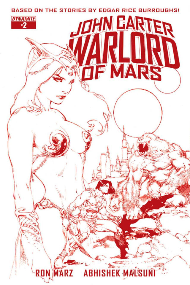 John Carter: Warlord of Mars #2 (Rare Benes Martian Red Cover)