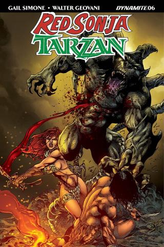 Red Sonja / Tarzan #6 (Castro Cover)