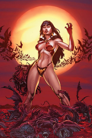 Vengeance of Vampirella #1 (11 Copy Buzz Blood Moon Virgin Cover)