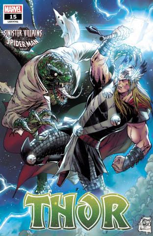 Thor #15 (Daniel Spider-Man Villains Cover)