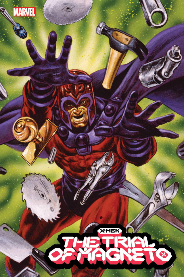 X-Men: The Trial of Magneto #3 (Marvel Masterpieces Cover)