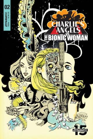Charlie's Angels vs. The Bionic Woman #2 (Mahfood Cover)