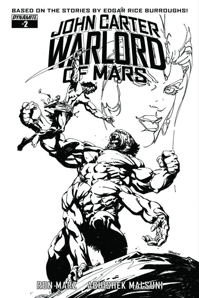 John Carter: Warlord of Mars #2 (10 Copy Sears B&W Cover)